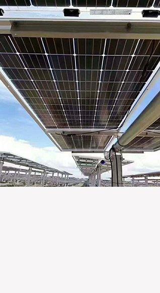 隆基樂葉300W單晶雙面發電太陽能電池板正面300W,背面226W,雙面發電